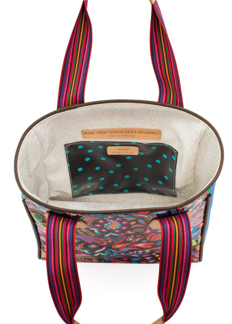 Classic Tote- Sophie Black Swirly By Consuela -RESTOCK