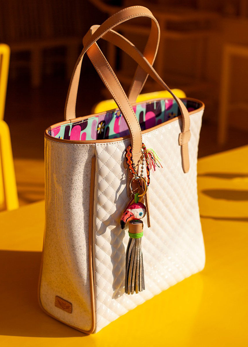 Classic Tote- Nina White By Consuela