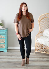Load image into Gallery viewer, Dahlia Lace Top- MOCHA  - FINAL SALE