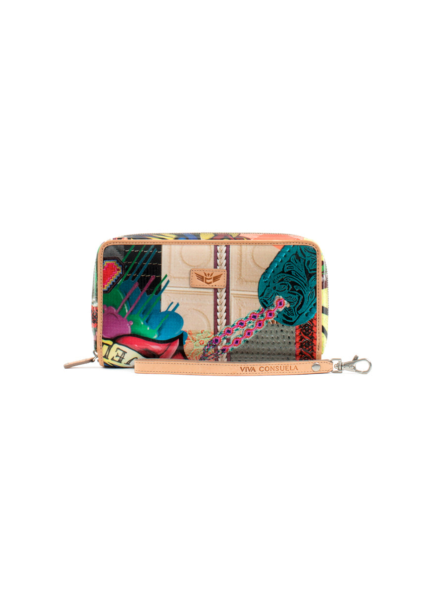 Wristlet Wallet- Patches By Consuela