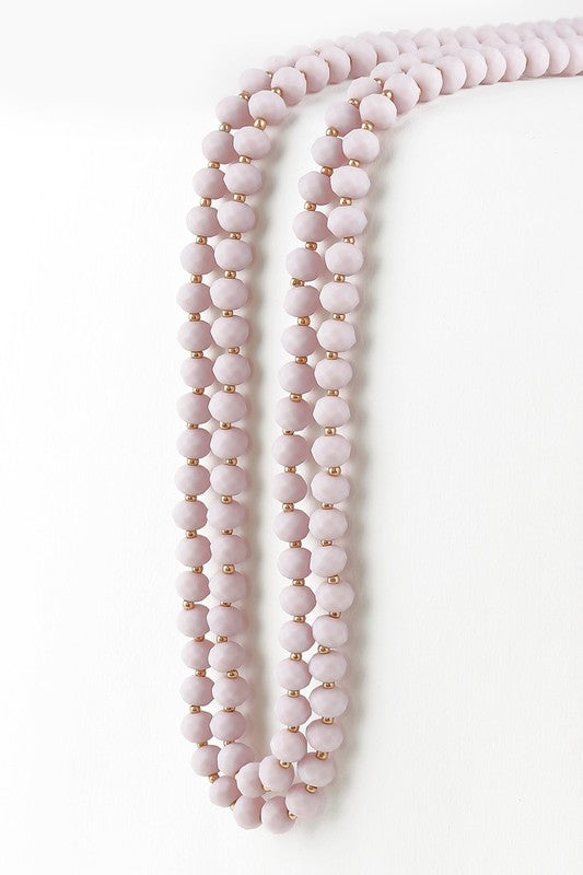 Classic Strand Necklace- Dusty Lilac - FINAL SALE