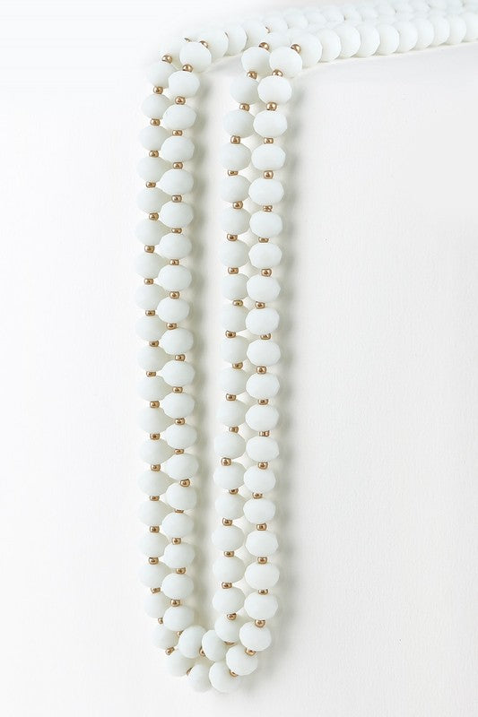 Classic Strand Necklace- White
