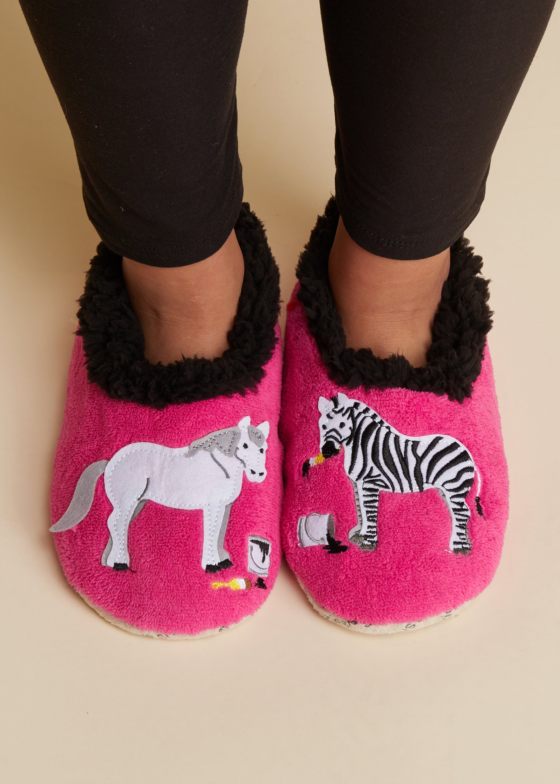Zebra & Horse Snoozies Slippers