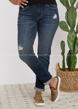 Load image into Gallery viewer, Jaylee Distressed Boyfriend Jean-RESTOCK