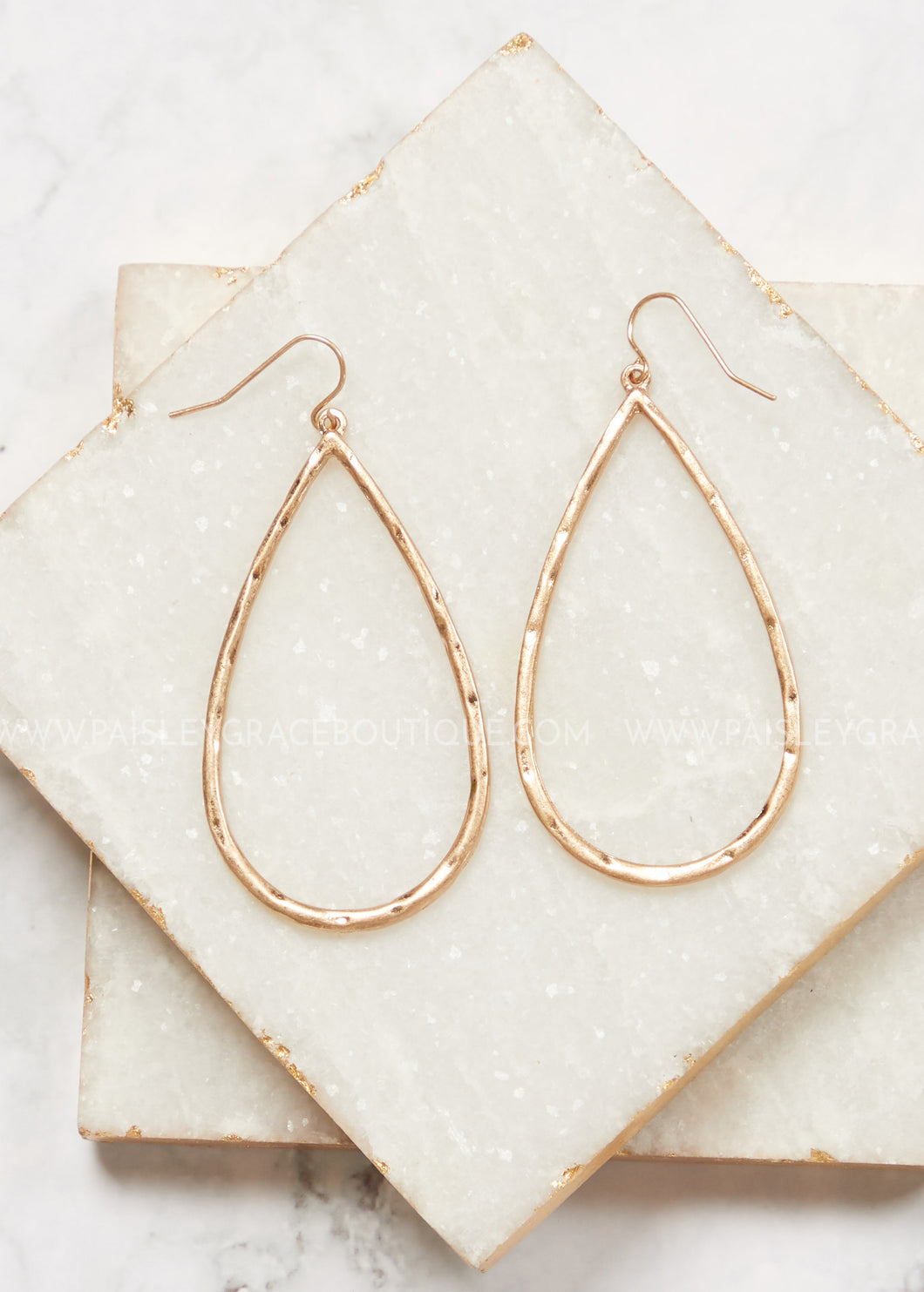 Simple Hammered Gold Earrings