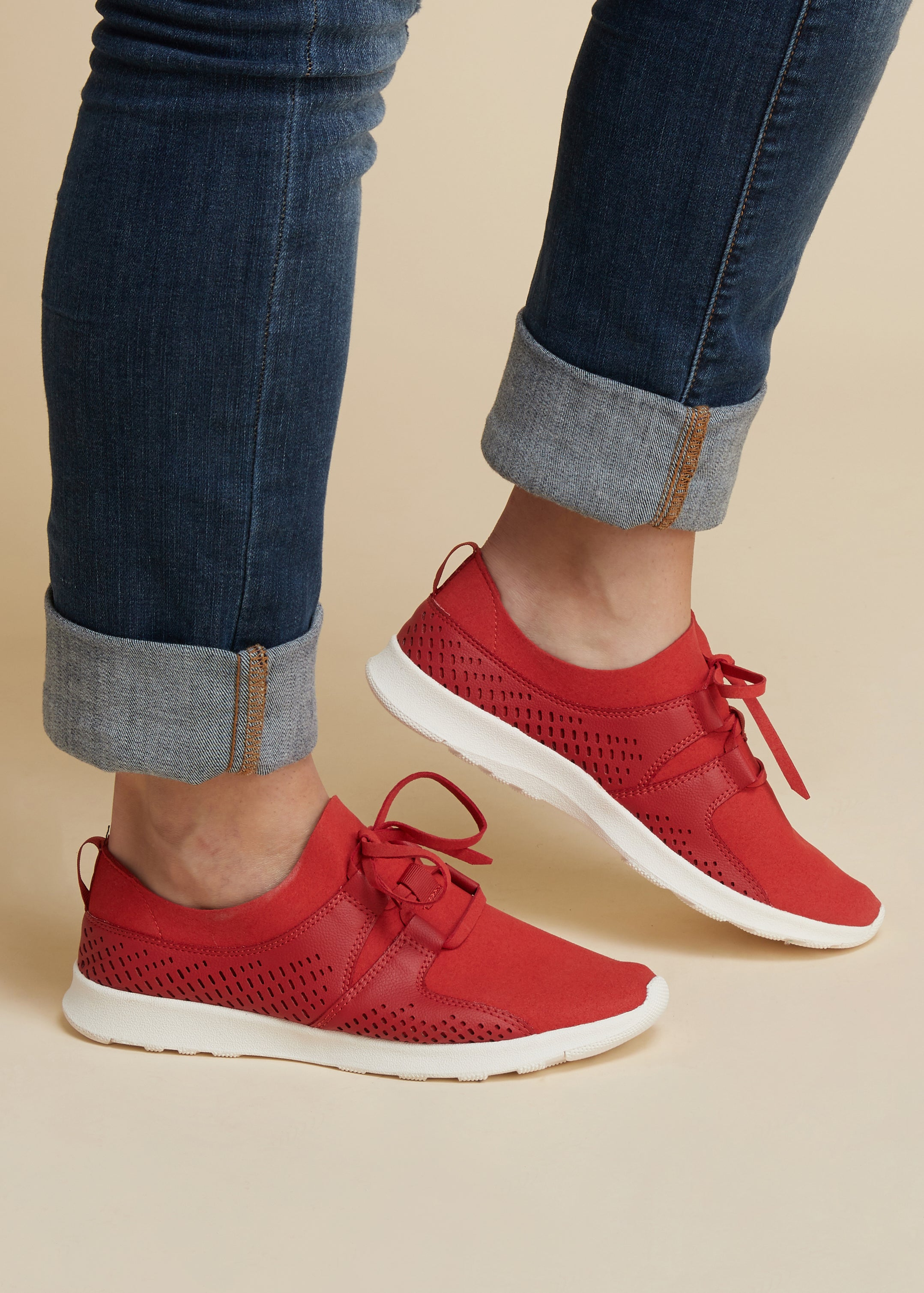 Kick It Up A Notch Sneaker-RED