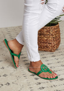 Kaylee Sandal -GREEN - FINAL SALE