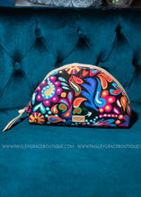 Load image into Gallery viewer, Large Cosmetic Bag- Sophie Black Swirly By Consuela- RESTOCK