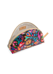 Large Cosmetic Bag- Sophie Black Swirly By Consuela- RESTOCK