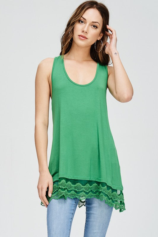 Emory Tunic Extender - APPLE GREEN-FINAL SALE