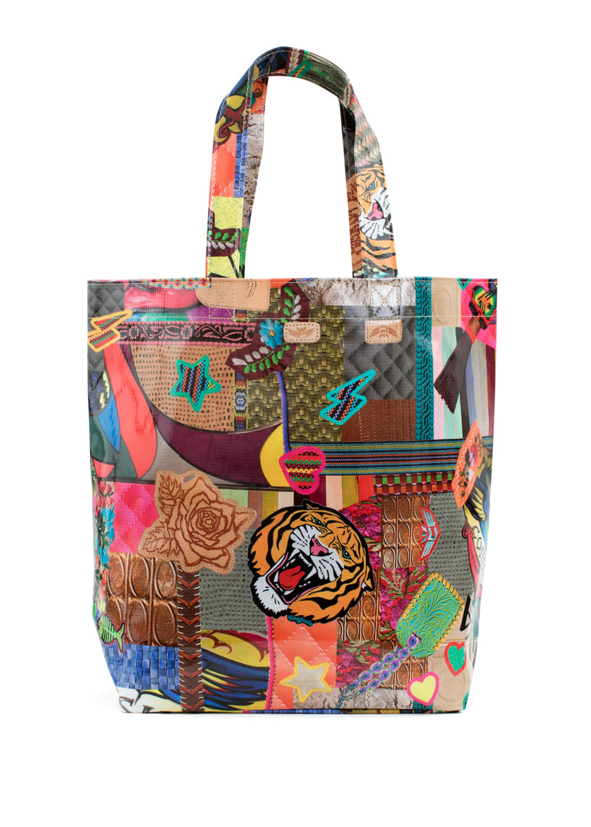 Grab 'n' Go Tote- Patches By Consuela
