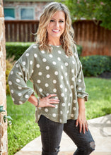 Load image into Gallery viewer, Beckette Polka Dot Top- SAGE