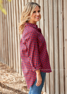 Wrapped in Warmth Top- RED