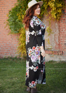 Weekend Away Maxi- BLACK  - FINAL SALE