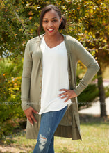 Load image into Gallery viewer, Emmaline Snap Cardigan- OLIVE