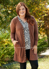 Load image into Gallery viewer, Emmaline Snap Cardigan-BROWN