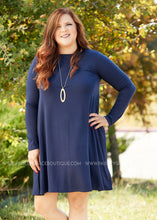 Load image into Gallery viewer, Addison Dress- NAVY - FINAL SALE