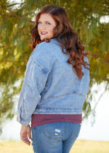 Load image into Gallery viewer, Rhiannon Denim Jacket- BLUE  - FINAL SALE