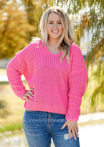Sweetheart Sweater- PINK