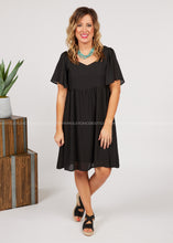Load image into Gallery viewer, Gia Dress - BLACK  - FINAL SALE
