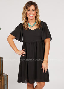 Gia Dress - BLACK  - FINAL SALE
