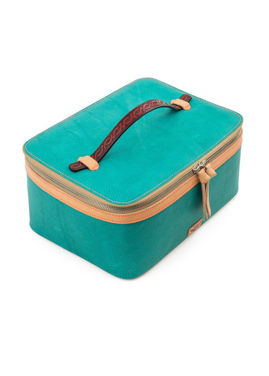 Train Case- Guadalupe Turquoise By Consuela