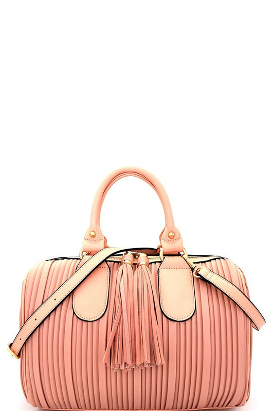 Boston Satchel - Blush