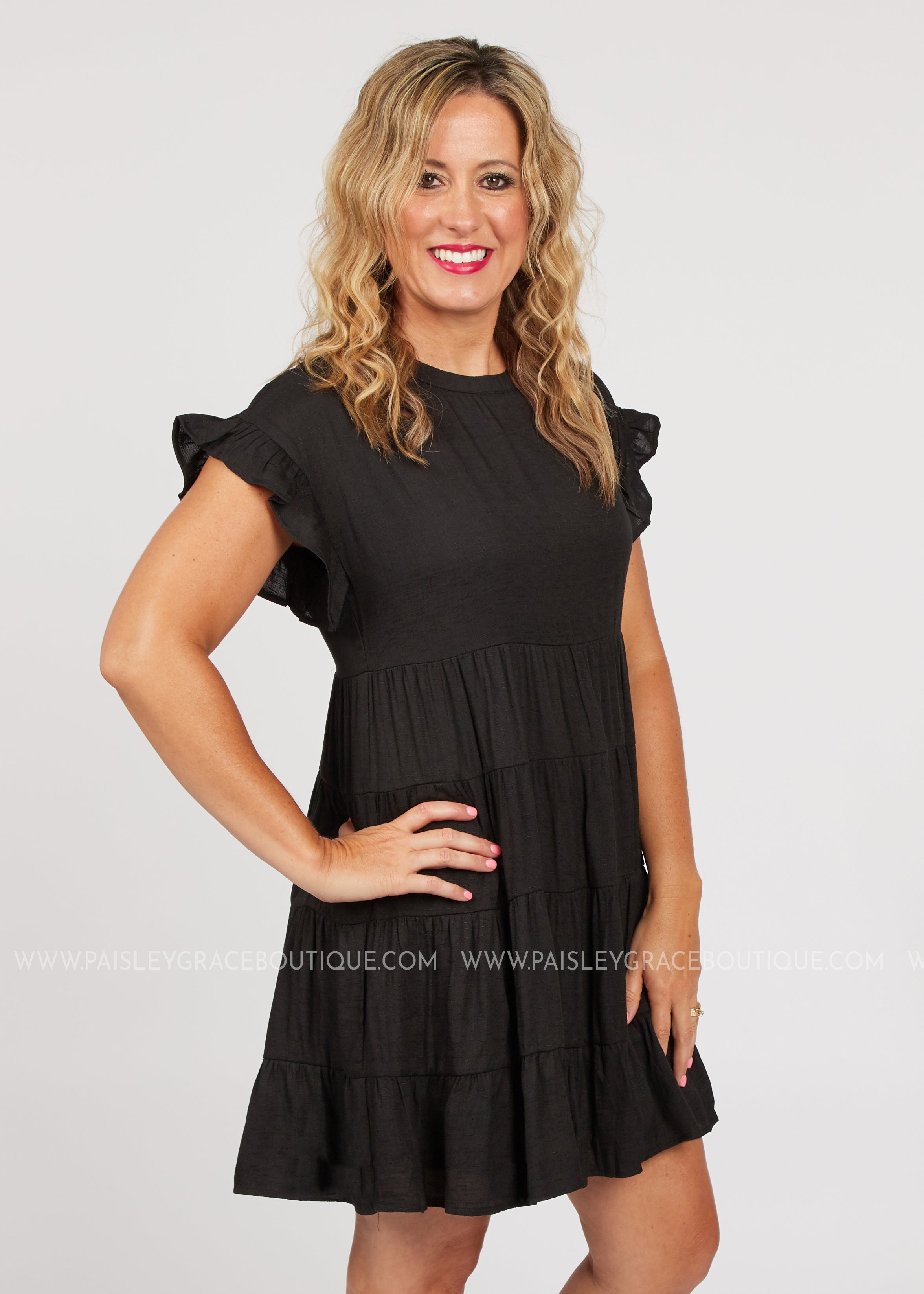 Lennox Dress- BLACK  - FINAL SALE