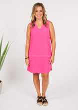 Load image into Gallery viewer, Audrey Dress- Hot Pink  - FINAL SALE