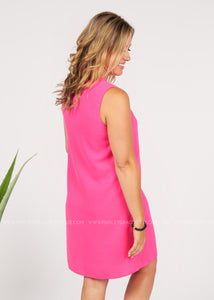 Audrey Dress- Hot Pink  - FINAL SALE