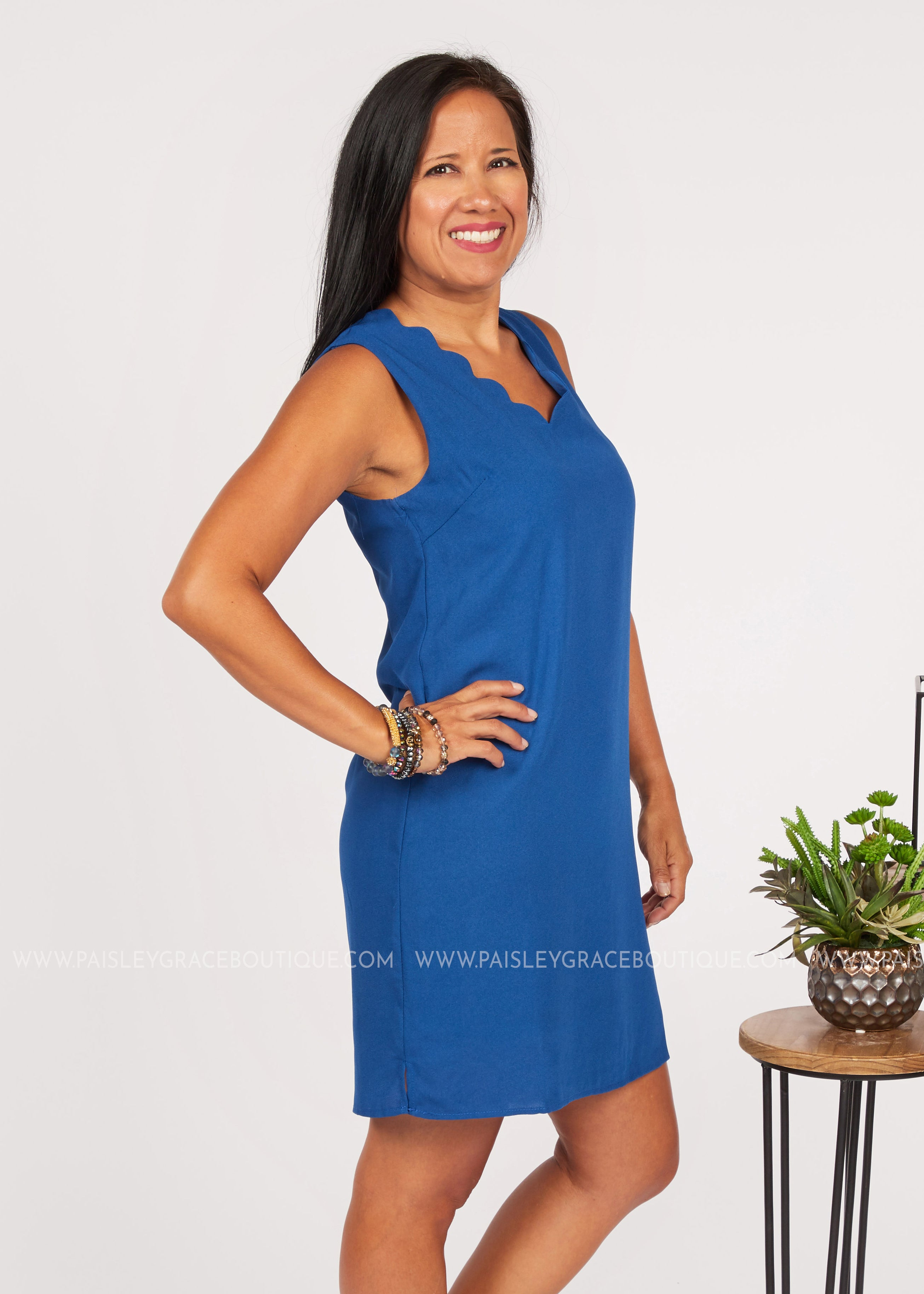 Audrey Dress- Royal Blue  - FINAL SALE