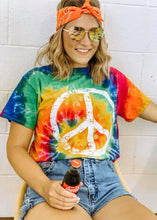 Load image into Gallery viewer, PEACE TIE DYE TEE