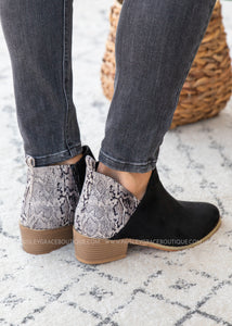 Port Booties by Corkys - BLACK  - FINAL SALE
