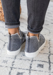 Josie High Top Sneaker- GREY