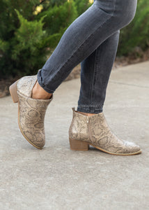 Port Booties by Corkys - GOLD SNAKE  - FINAL SALE