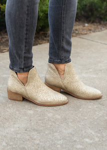 Wayland Booties by Corkys- GOLD LEOPARD