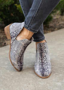 Wayland Booties by Corkys- BLACK SNAKE  - FINAL SALE