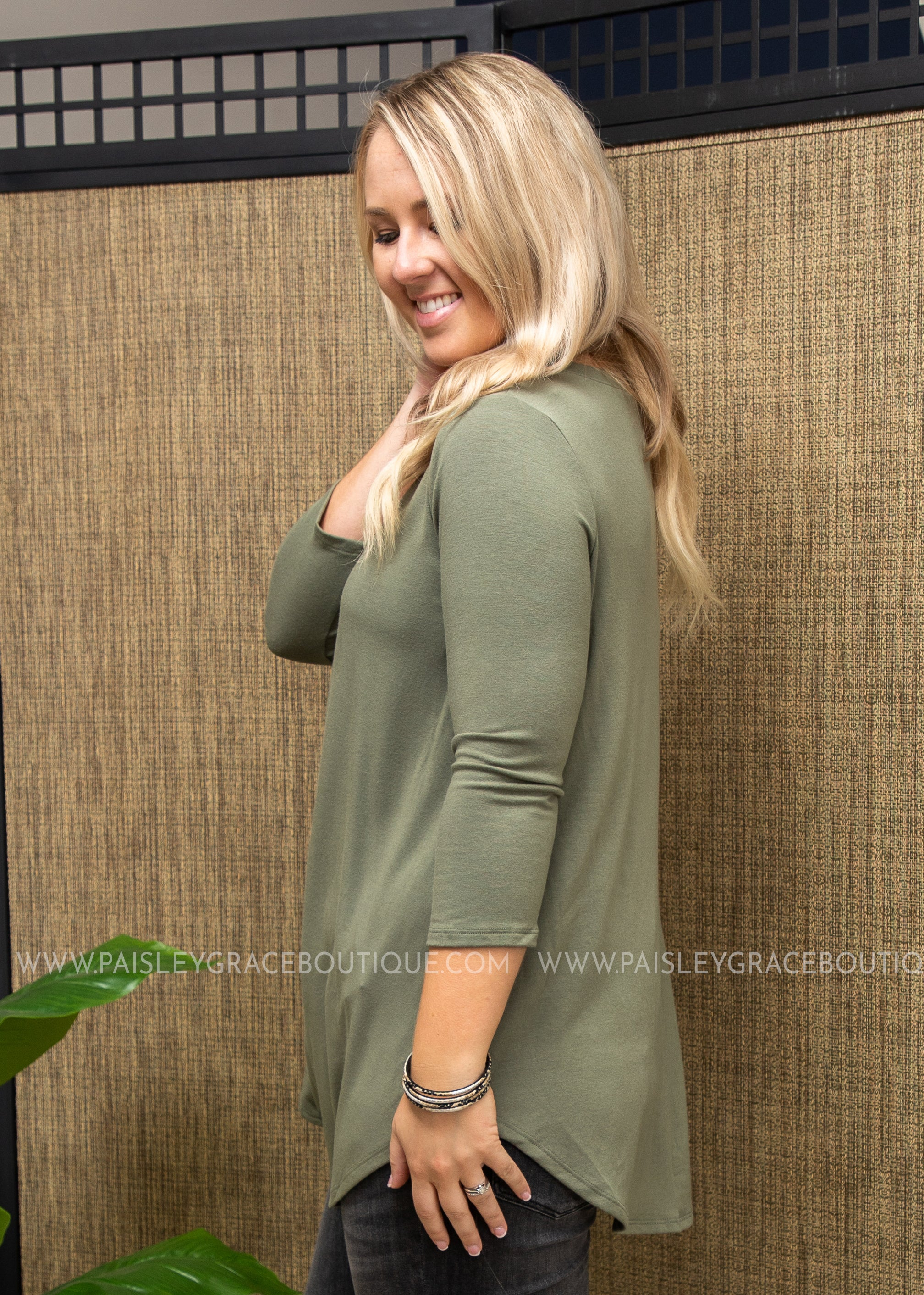 The Haven Top- LT. OLIVE