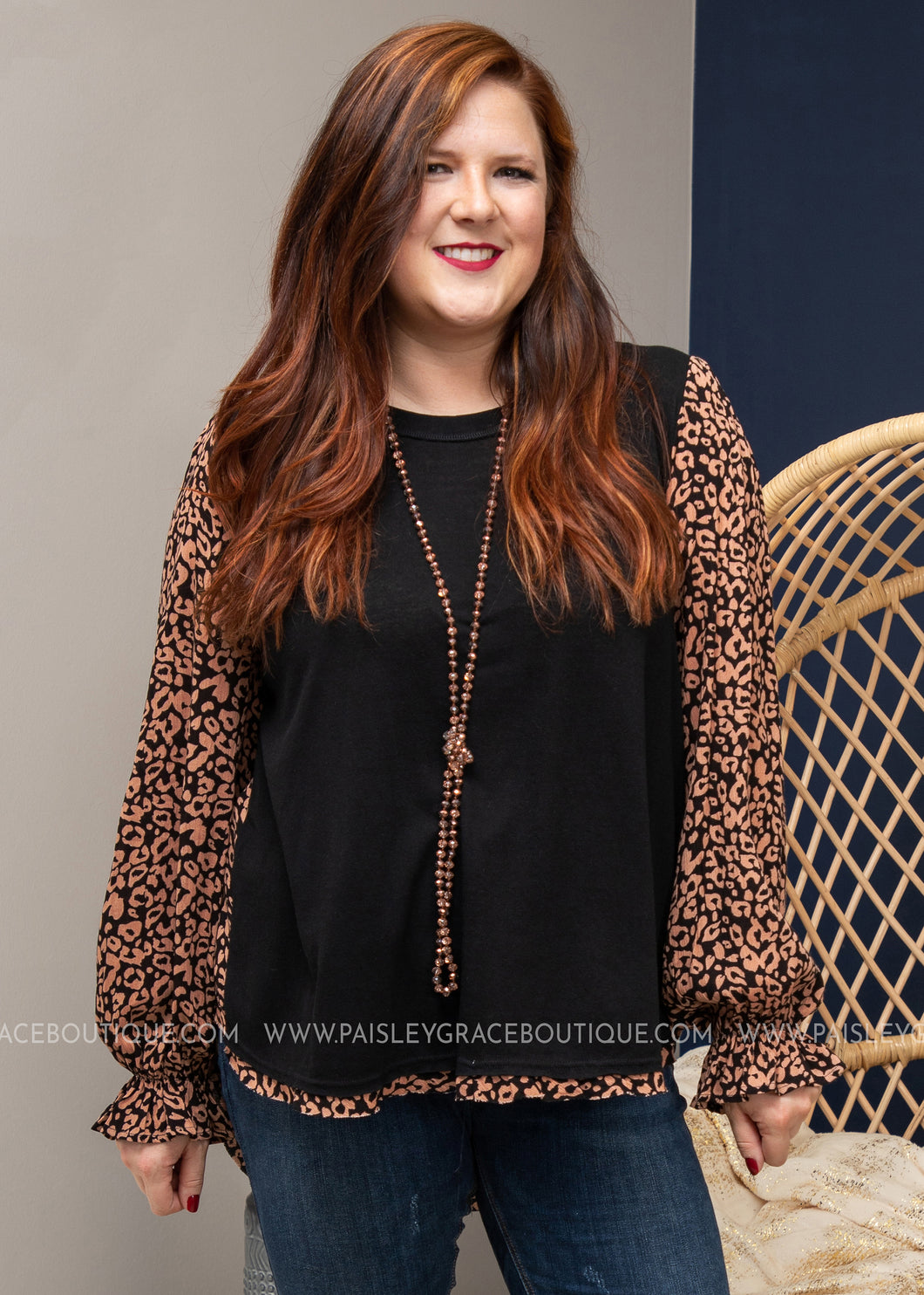 Adeline Top - BLACK-PLUS ONLY