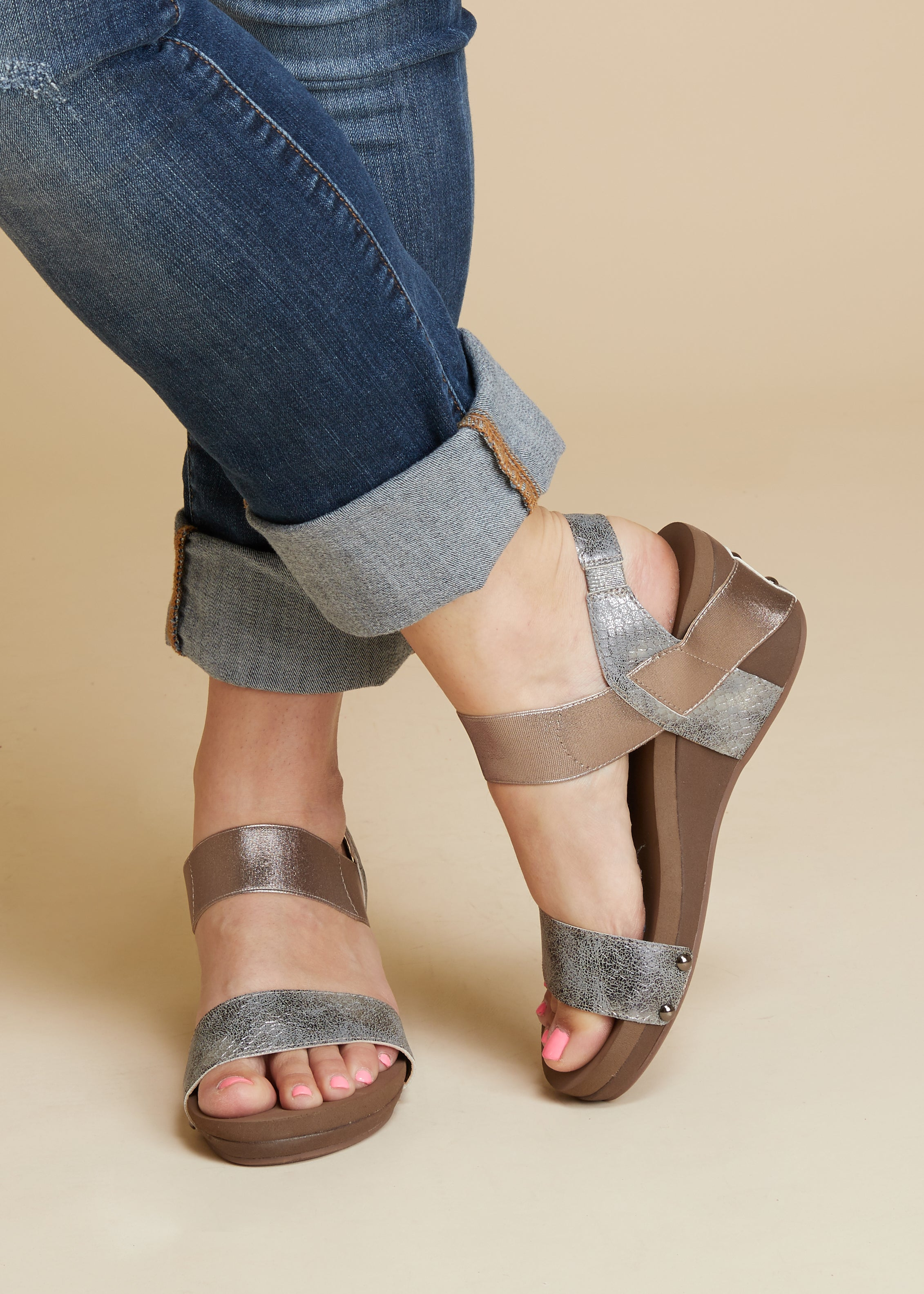 b342643c86d Bandit Wedge by Corkys-PEWTER-RESTOCK - Paisley Grace Boutique