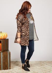 Let There Be Leopard Cardigan