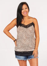 Load image into Gallery viewer, Leopard & Lace Soft Cami  - FINAL SALE