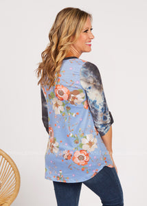 Meeting Point Top-Blue  - FINAL SALE