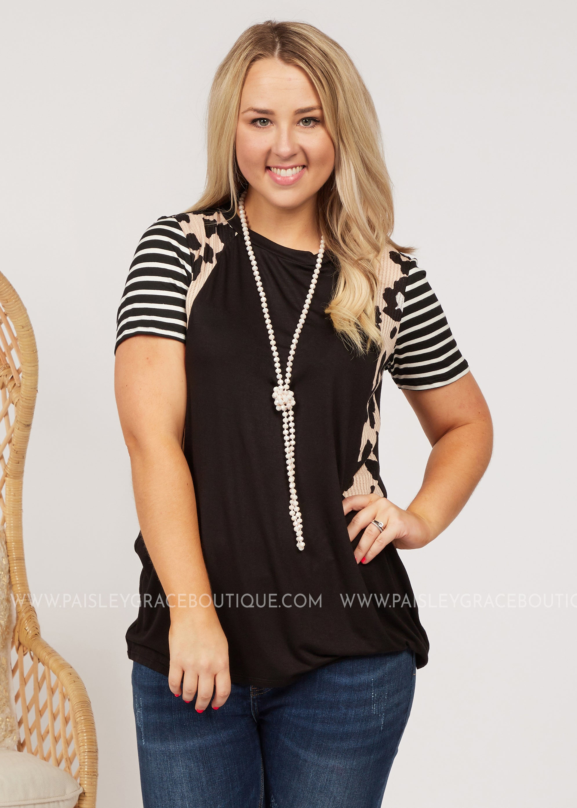 Wild Side Top- BLACK