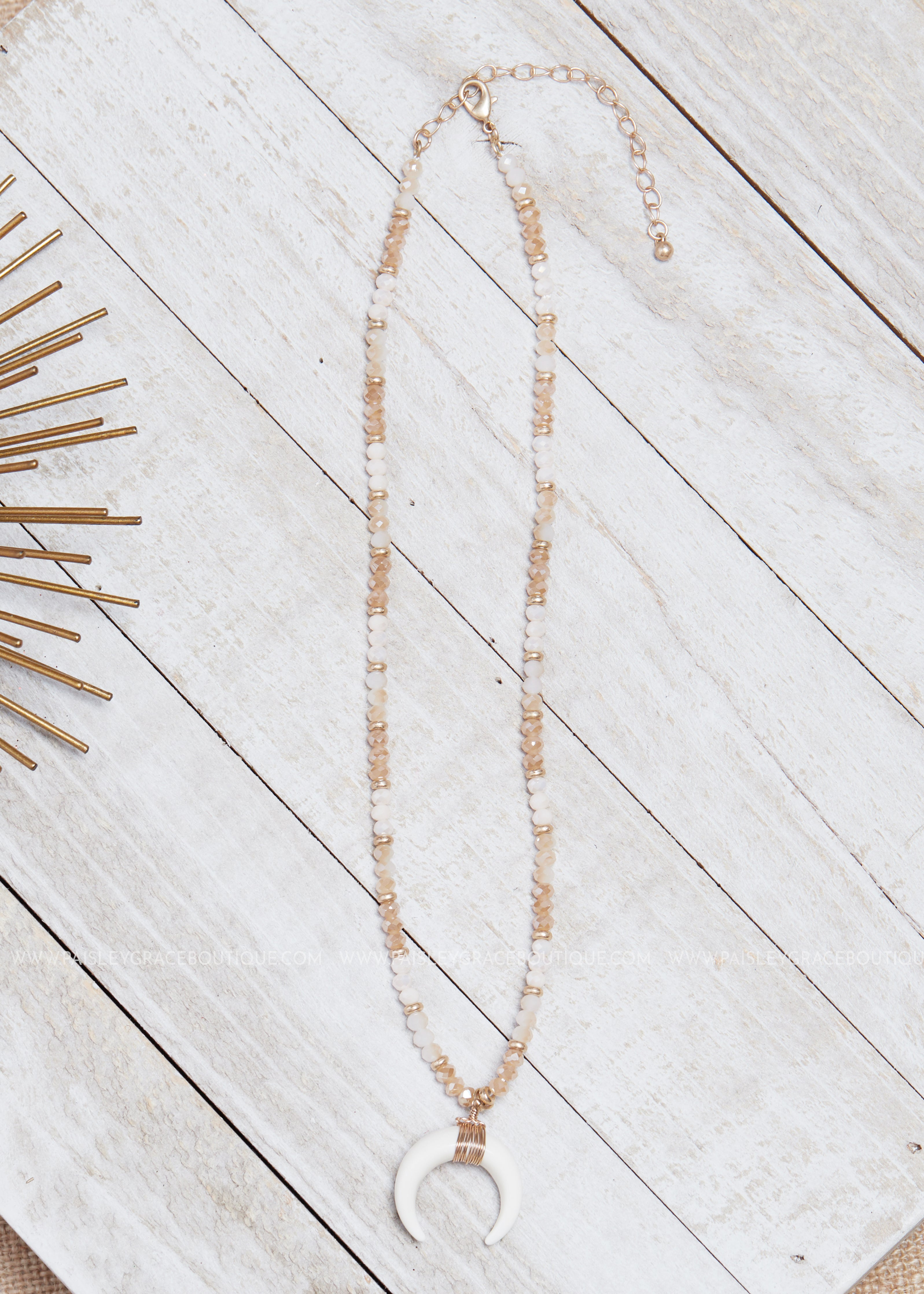 Topaz Horn Necklace