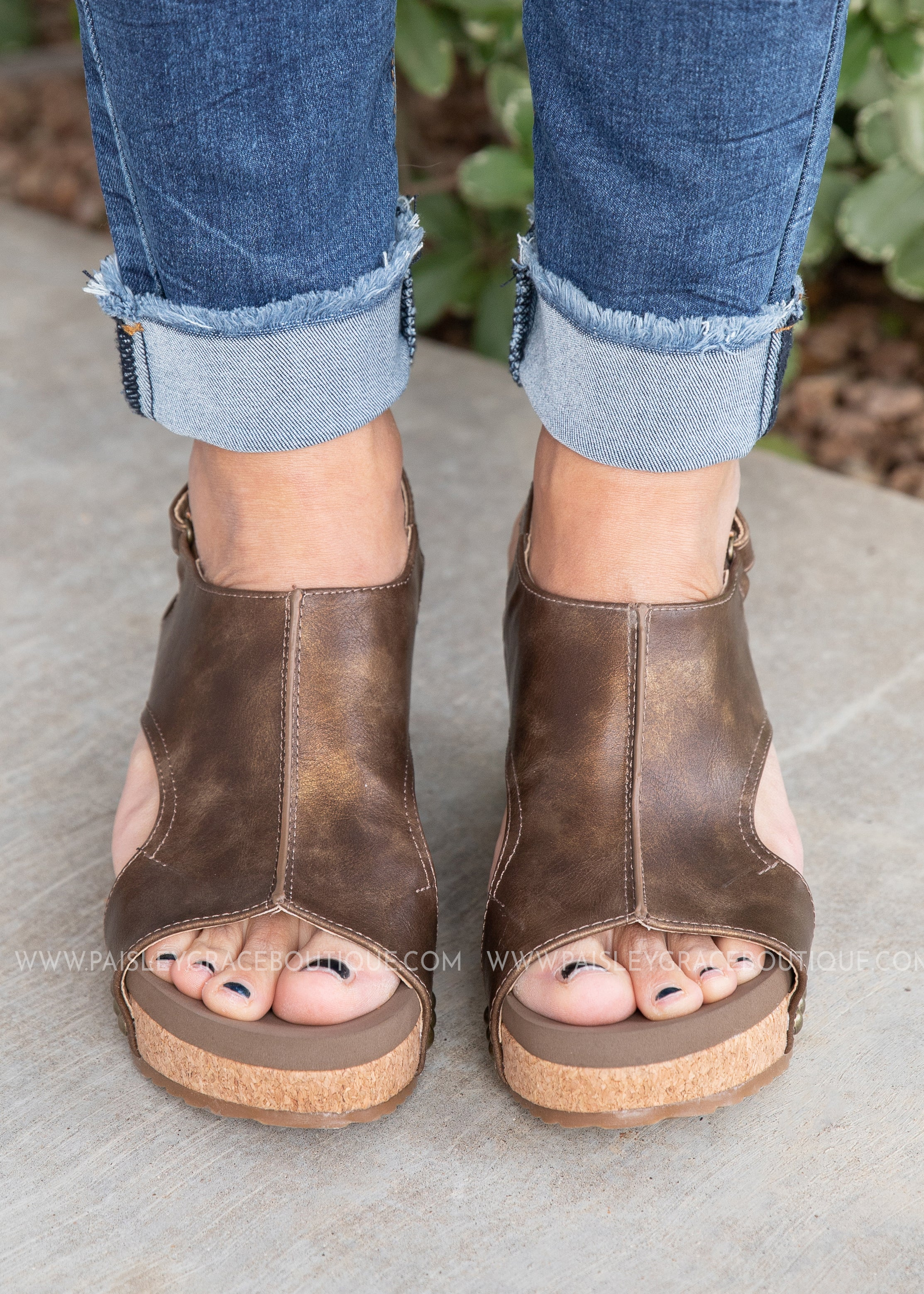 Carley Wedge by Corkys-BROWN