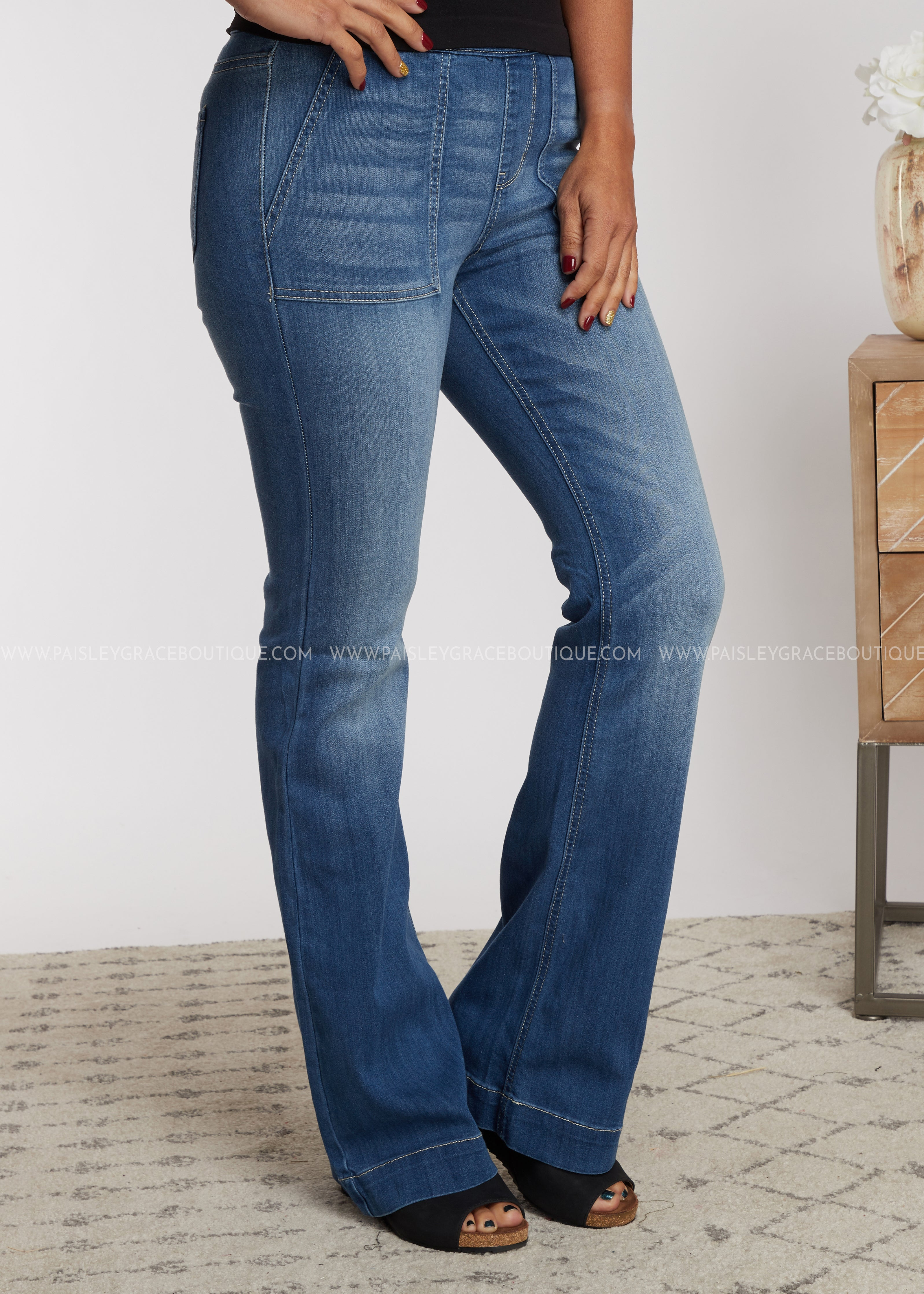 Marley Bell Bottoms- Denim