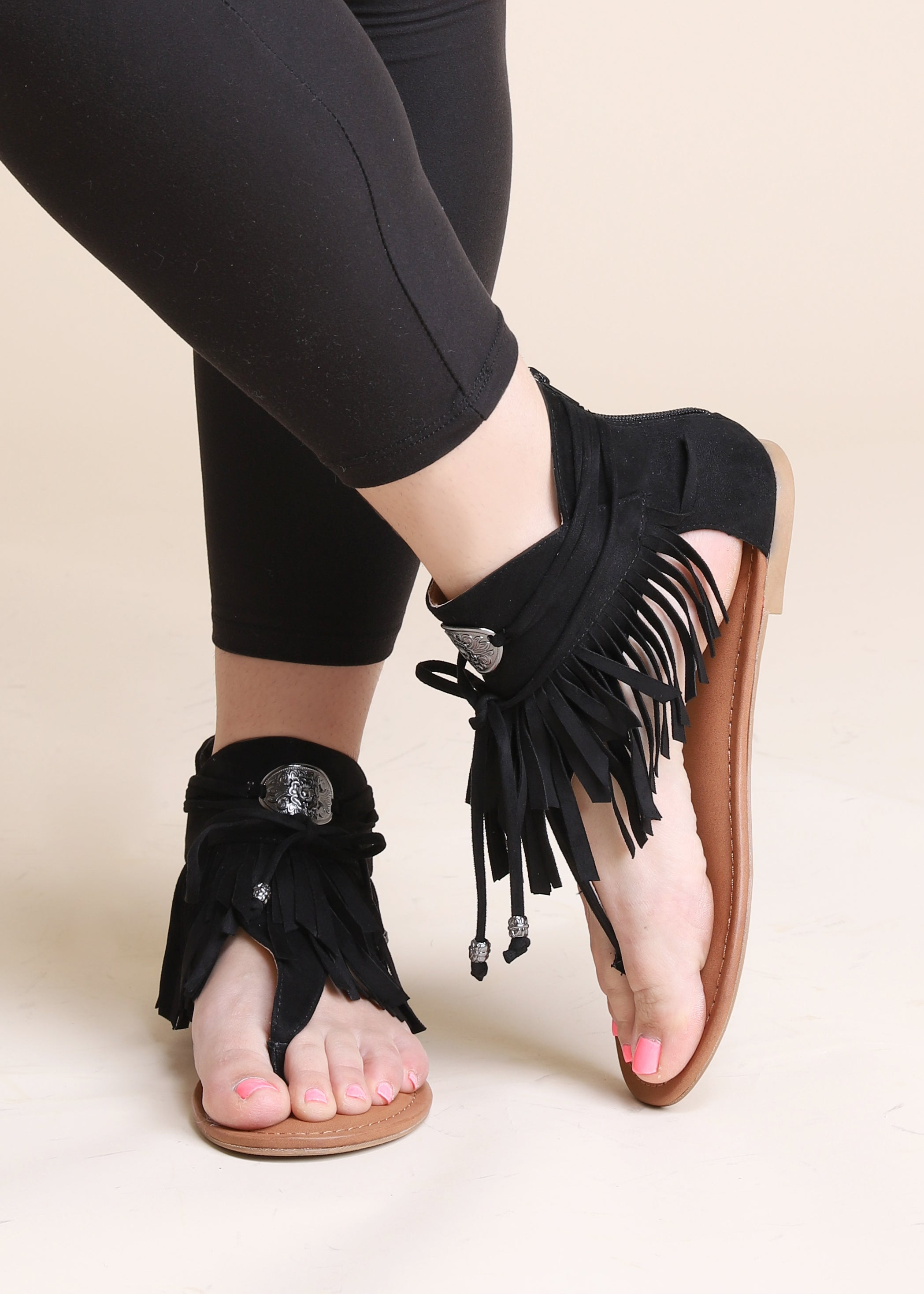 Chicos Fringe Sandal - FINAL SALE