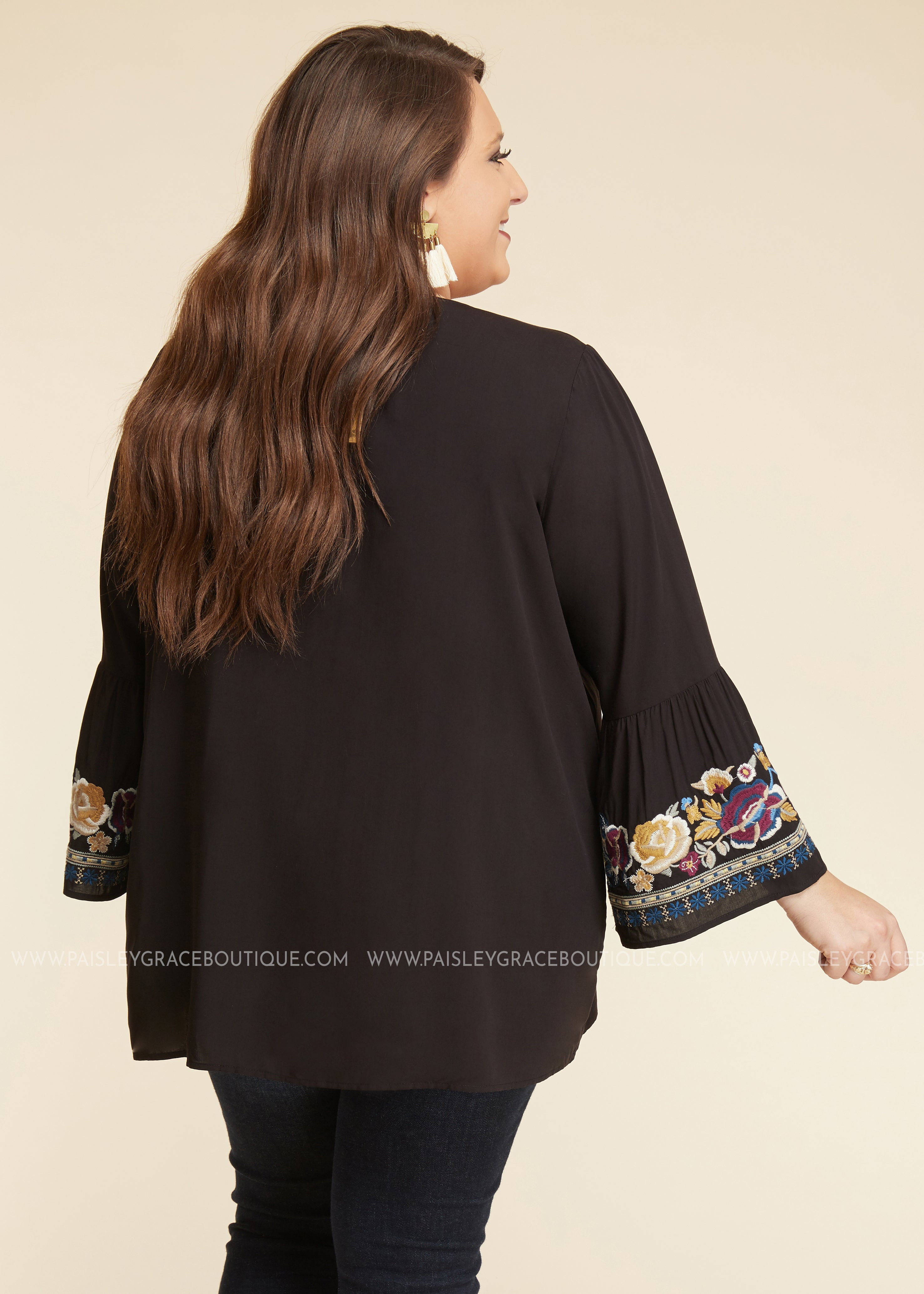 Chic Soul Embroidered Top - FINAL SALE