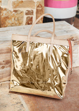 Load image into Gallery viewer, Slim Tote - Goldie Gold By Consuela